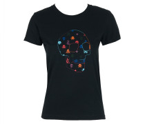 T-Shirt NEONSKULL schwarz Gr. XS