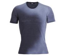 Herren Leinen T-Shirt Coated blau