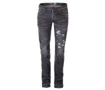 NOIR Jeans RAMBLER Destoyed Look grau