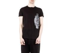 Strick T-Shirt schwarz