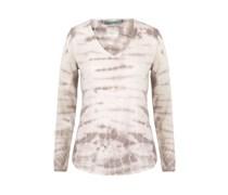 Dear Cashmere V-Pullover Tie Dye creme