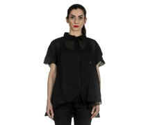 Dip Bluse in A-Linie schwarz