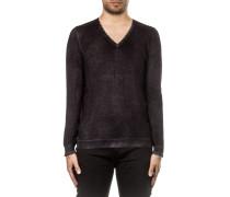 Herren Pullover V-Neck schwarz