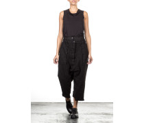 Damen Sarouelhose Layer Look schwarz