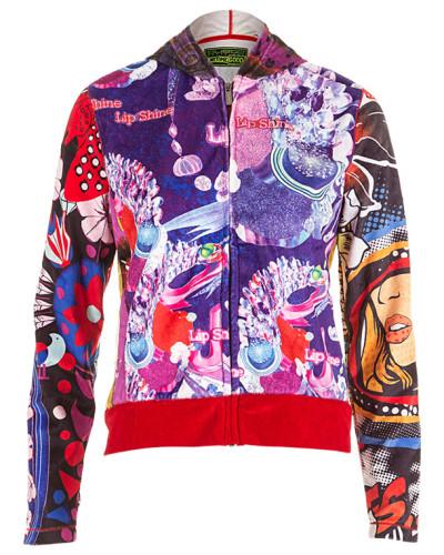 Barcelona Damen Sweatjacke multicolour Gr. 38