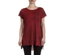 Damen Leinen Shirt rot
