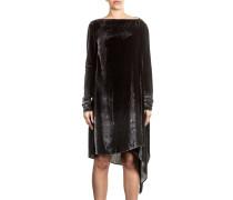 Samtkleid oversized schwarz