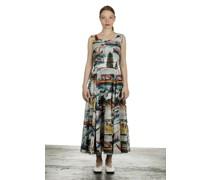 Sommerkleid ASTER weiß Print