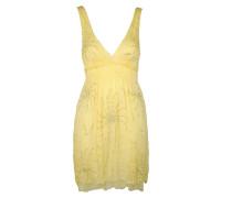 Pailletten Kleid gelb
