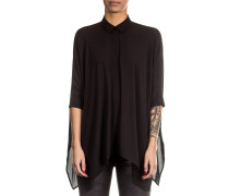 Damen Bluse Oversized schwarz
