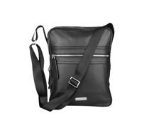 Aigner Leder Messenger Bag schwarz