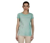 T-Shirt aus feiner Baumwolle türkis