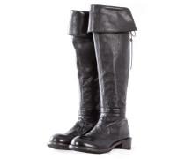 MOMA Damen Stiefel mit Zip ORLANDO NERO schwarz