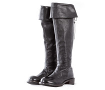 Damen Stiefel mit Zip ORLANDO NERO schwarz