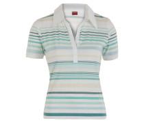 Damen Polo Shirt weiß grün