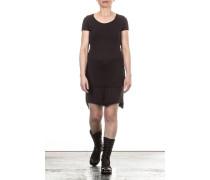 Damen Jersey Minirock Layer Look schwarz Gr. L