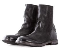 MOMA Herren Leder Boots SAURO NERO schwarz