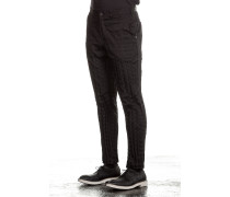 Herren Hose Crashed Look schwarz