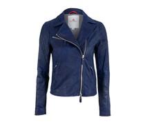 Peuterey Leder Jacke CHARNETTE blau