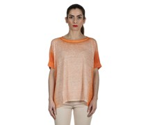 Oversized T-Shirt aus Leinen orange