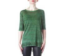 Strick T-Shirt grün