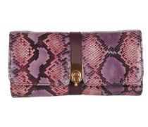 Schlangenleder Tasche rosa