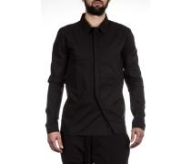 Herren Baumwoll Hemd schwarz