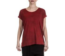 Damen T-Shirt mit Schlitz rot