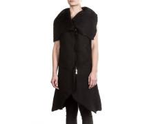 Damen Lederweste Avantgarde schwarz