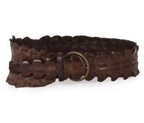 Krokodilleder Gürtel braun