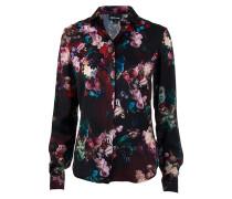 Bluse floral print dunkelrot