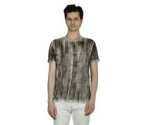 Leinen T-Shirt mit gebürstetem Effekt mehrfarbig