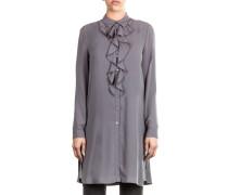 Damen Bluse Tunika grau