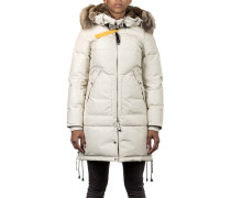 Damen Daunen Kurzmantel LONG BEAR creme