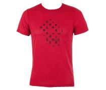 Lala Berlin Herren T-Shirt SKULL rot