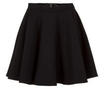 Minirock aus Schurwolle schwarz