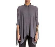 Damen Bluse Oversized grau