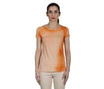 T-Shirt aus feiner Baumwolle orange