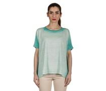 Oversized T-Shirt aus Leinen türkis