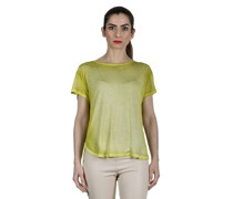 Oversized T-Shirt aus feinem Material lemon