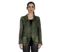 Leinen-Baumwoll-Mix Blazer mit Farbverlauf grün