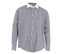 Herren Hemd gestreift blau weiß