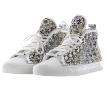 Black Damen Sneaker STRASS multicolour