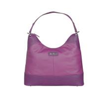 Damen Leder Handtasche pink