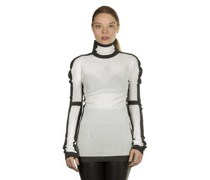 Avantgarde Pullover Rollkragen schwarz weiß