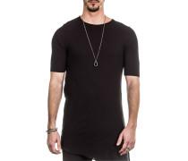 T-Shirt asymmetrisch schwarz