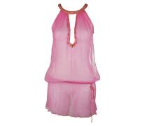 Seiden Top Kleid pink