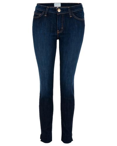 THE SIDE SLIT STILETTO Jeans District blau
