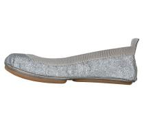 Yosi Samra Ballerinas gunmetal glitter silber