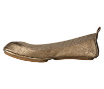 Yosi Samra Ballerinas quilted bronze